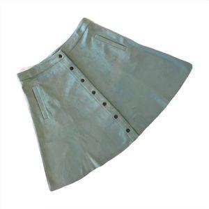 Joh Mint Green A-line Knee Length Skirt, Medium